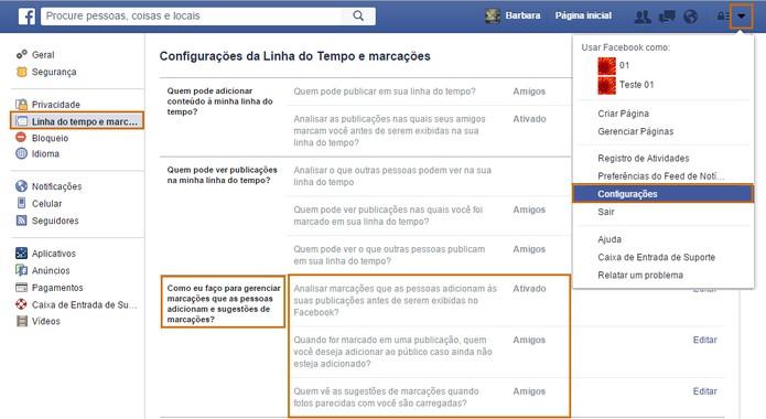 Facebook oferece ferramentas de privacidade para limitar marcações de fotos por outros usuários (Foto: Reprodução/Barbara Mannara)