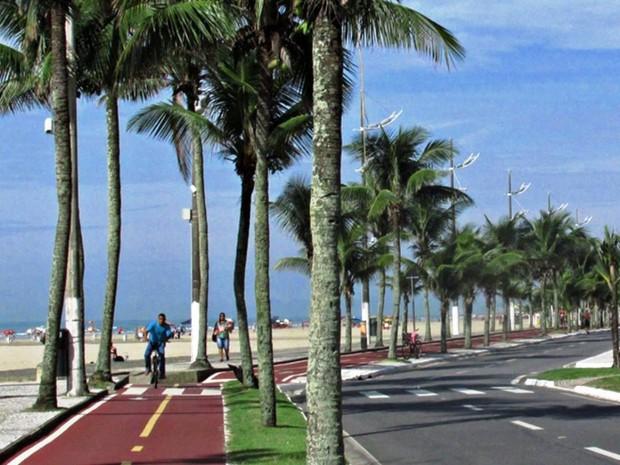 Praia Grande tem pouco mais de 84 km de ciclovias (Foto: Hebe Dorado/Arquivo Pessoal)
