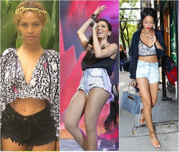Beyoncé, Anitta e Rihanna (Foto: Reprodução do Instagram)