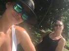 Laura Keller se exercita com a mãe: 'Natal sarado com a mamis'