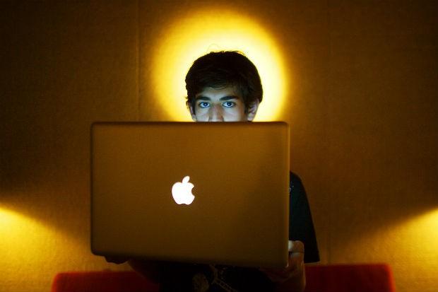 O ativista da internet Aaron Swartz em foto de 30 de junho de 2009. Ele foi encontrado morto em seu apartamento em Nova York, no dia 11 de janeiro de 2013. Swartz tinha 26 anos (Foto: The New York Times, Michael Francis McElroy/AP)