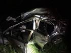 Motorista sobrevive após carro ficar irreconhecível em acidente na BR-158