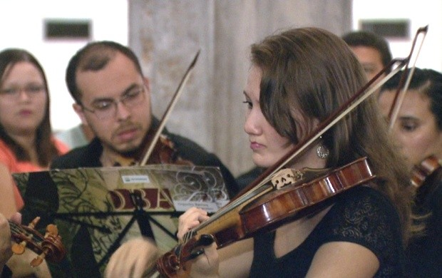 Orquestra Barroca do Amazonas se apresenta em igreja de Boa Vista (Foto: Bom Dia Amazônia)