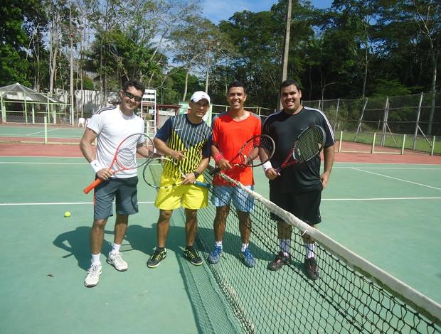 Isau e Naldo vencem Xupeta e Leandro e vencem torneio de duplas de tênis do Círculo Militar (Foto: Divulgação/Círculo Militar)