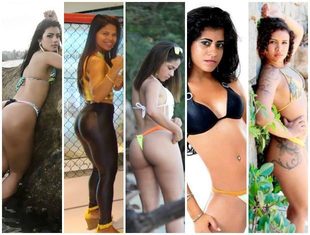 Candidatas classificadas para 2ª fase do concurso de ring girls do HCC (Foto: Divulgação/Haidar Capixaba Combat)