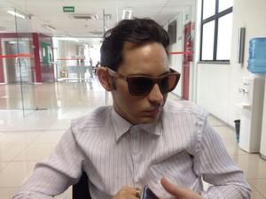 Jader Damasceno, sobrevivente na colisão, é uma das testemunhas de acusação (Foto: Beto Marques/G1)