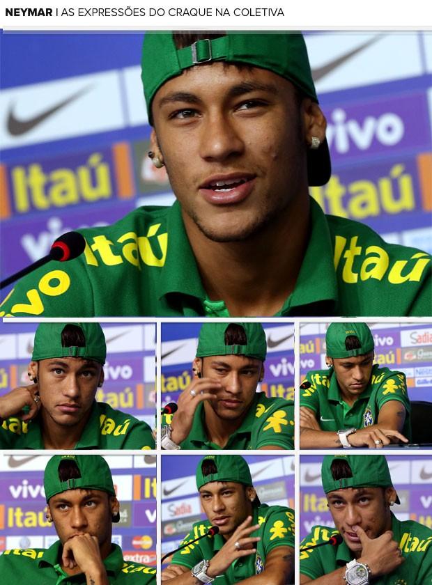 MOSAICO expressões neymar brasil coletiva (Foto: Jefferson Bernardes / Vipcomm)