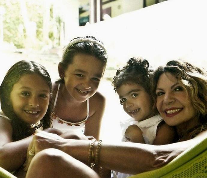 Elba Ramalho com as três Marias (Foto: Arquivo pessoal)