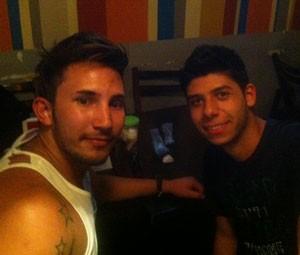 Os amigos Cássio e Júnior (Foto: Rodrigo Ortega/G1)