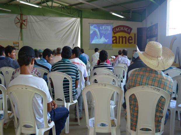 40 produtores participaram da palestra (Foto: Franciele do Vale/G1)