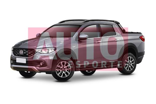 Projeção da Fiat Strada de nova geração (Foto: Renato Aspromonte/Autoesporte)