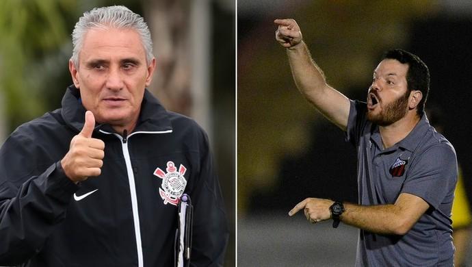 Duelo entre Corinthians x Ituano marca encontro dos técnicos que estão há mais tempo no cargo (Foto: Arte/TV TEM)