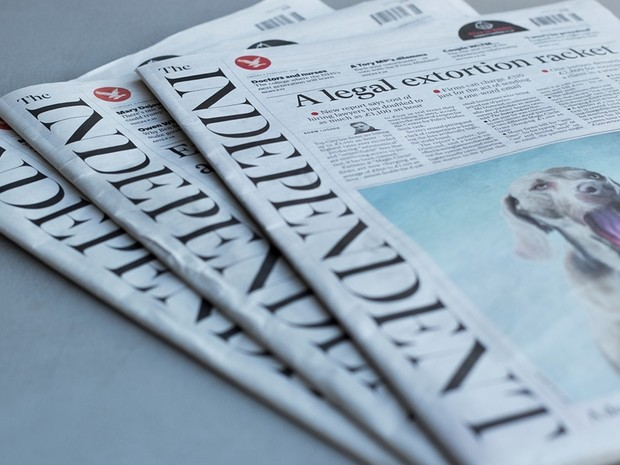 Jornal britânico Independent terá sua última edição em 26 de março (Foto: Reprodução/The Guardian)