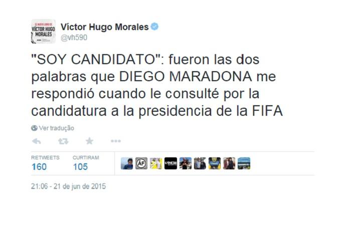 Maradona presidente Fifa (Foto: Reprodução/Twitter)