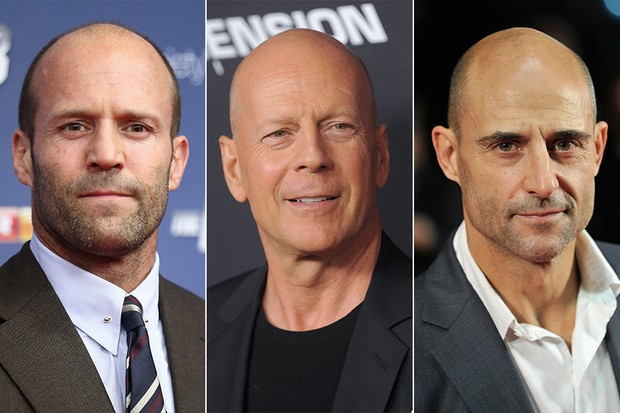 Jason Statham, Bruce Willis e Mark Strong (Foto: Getty Images)