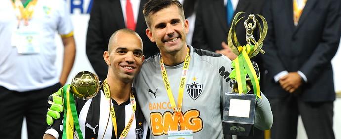 Diego Tardelli e Victor, Comemoração Atlético-mg copa do Brasil (Foto: Gustavo Andrade)