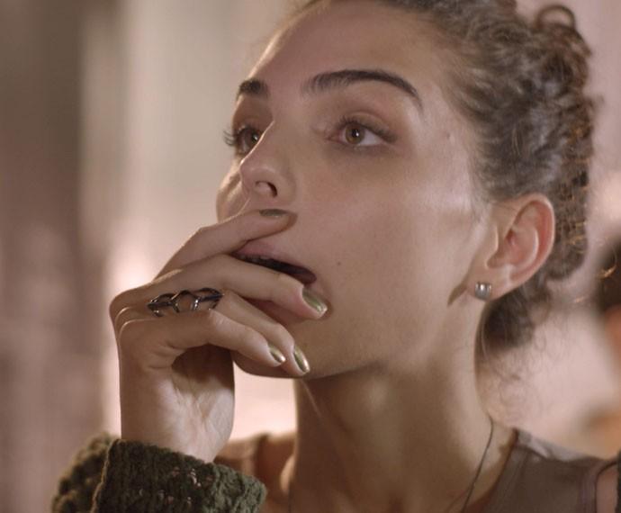 Ciça fica bolada com Uodson (Foto: TV Globo)