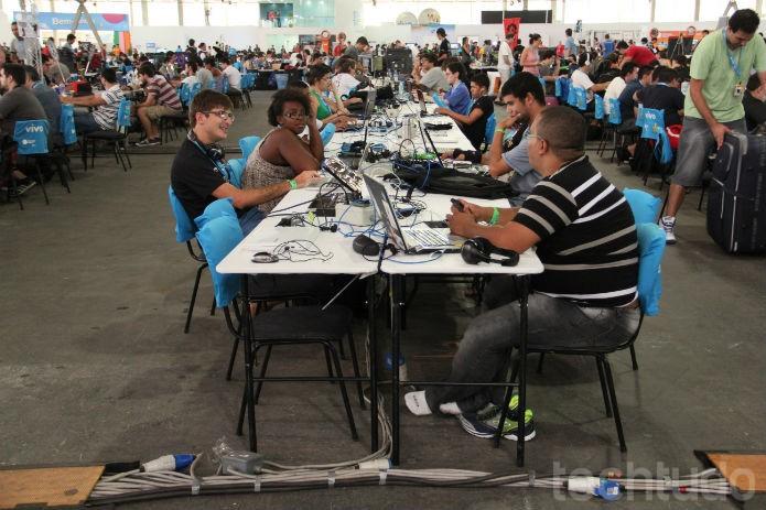 A Campus Party nasceu com a ideia de trocar conhecimentos e fazer amizades (Foto: TechTudo/Renato Bazan)