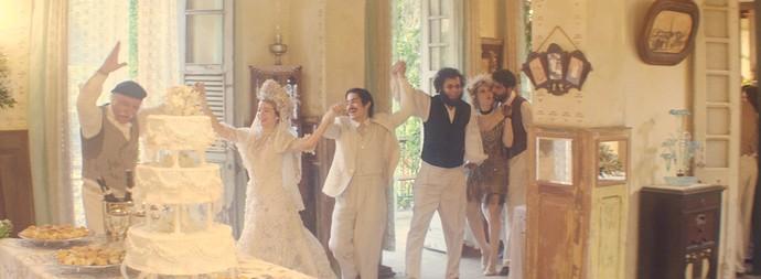 Halim e Zana celebram festa de casamento (Foto: TV Globo)