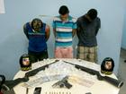 Trio é preso suspeito de usar escola para vender drogas em Manaus