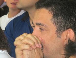 Expedito Falcão tenso na final (Foto: Carlos Mota / Globoesporte.com)