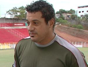 Luís Henrique Gomes, preparador físico do Aracruz (Foto: Reprodução/TV Gazeta)