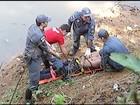 Homem embriagado é resgatado (MGTV/Divulgação)
