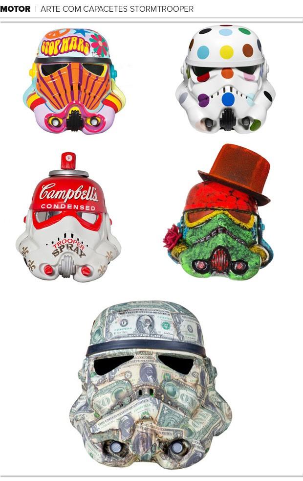 Mosaico Arte com capacetes Stormtrooper (Foto: Editoria de Arte / Globoesporte.com)