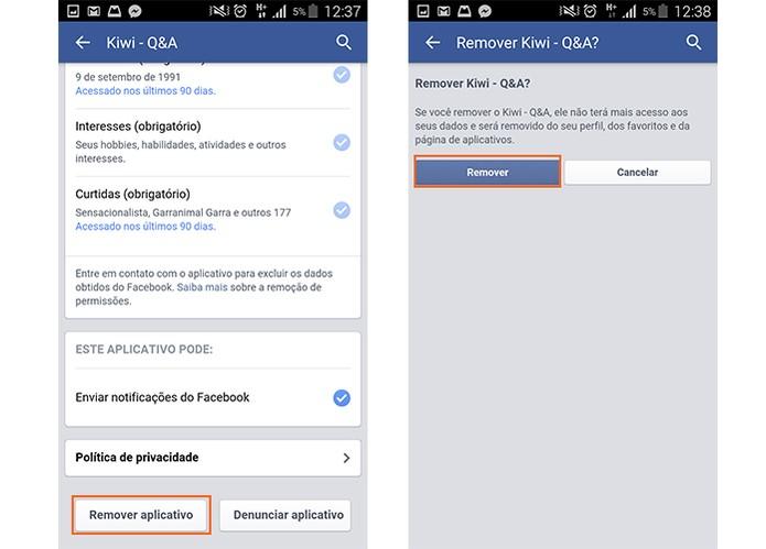 Remova o app da sua conta do Facebook (Foto: Reprodução/Barbara Mannara)