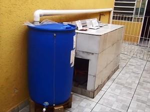Programador de computador montou sistema de captação de água da chuva em São Mateus, na Zona Leste de São Paulo