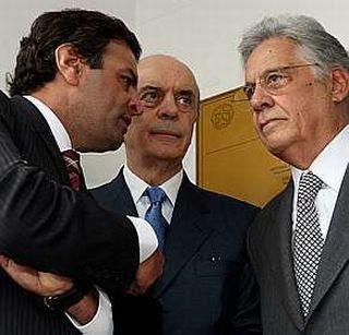 Aécio Neves, José Serra e Fernando Henrique Cardoso (Foto: Divulgação)