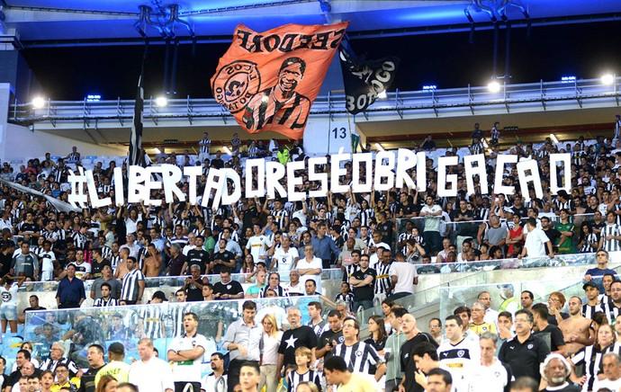 Torcida Botafogo contra a Portuguesa (Foto: Andre Durão)