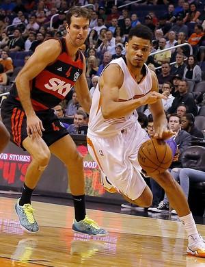 Marcelinho e Gerald Green, Flamengo x Phoenix Suns - AP (Foto: AP)