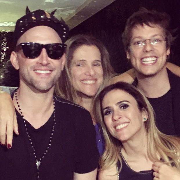 Paulo Gustavo, Ingrid Guimarães, Fábio Porchat e Tatá Werneck (Foto: Instagram / Reprodução)