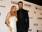 Fergie vai com o marido a evento beneficente em Nova York