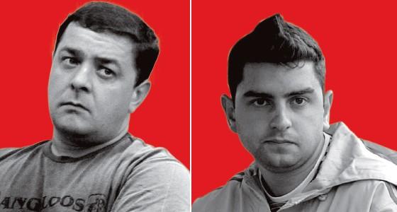 3 - Fábio Luiz (à esq.) e Luiz Cláudio, filhos de Lula. Ele e o irmão têm um escritório no mesmo prédio de Bumlai (Foto: Juca Varella/Estadão Conteúdo e Paulo Pinto/Estadão Conteúdo)