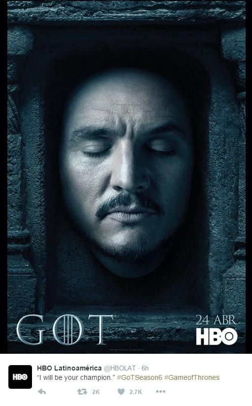 Hbo Divulga Pôsteres Da Sexta Temporada De Game Of Thrones E Trolla Fãs De Jon Snow época Nina Selfie
