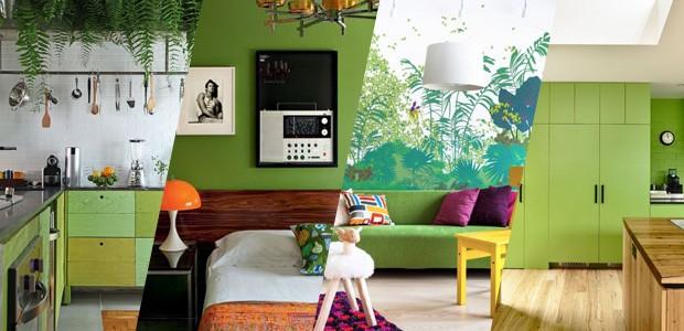 10 ambientes decorados com verde Greenery, a cor de 2017 da Pantone (Foto: Casa Vogue)