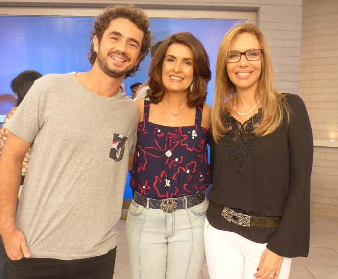 Felipe Andreoli, Fátima e Katia Mecler (Foto: Marcele Bessa/Gshow)