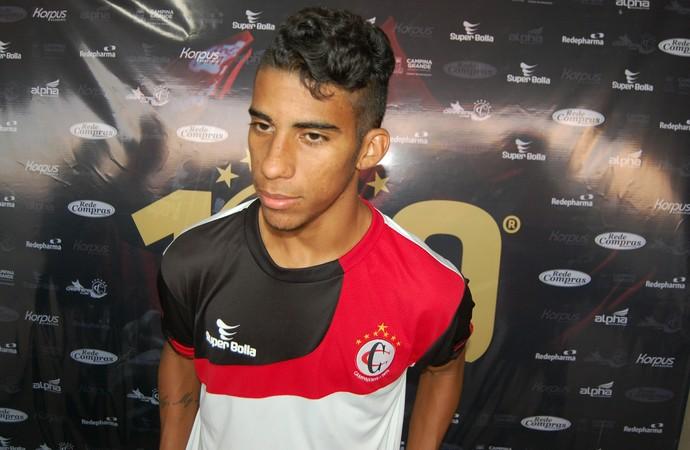 Luís Fernando, meia do Campinense (Foto: Silas Batista / GloboEsporte.com)