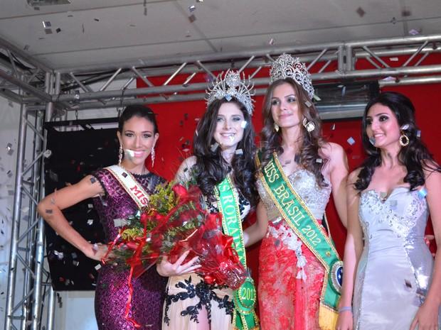Momento emocionante foi quando saiu o resultado do Miss Roraima 2013  (Foto: Neidiana Oliveira/G1)