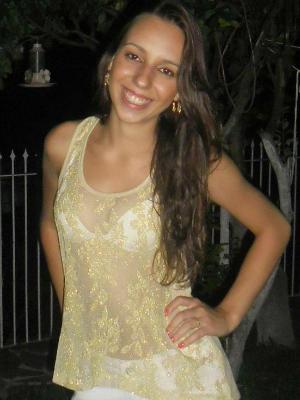 Fabiane estava em camarote de casa noturna de Xangri-lá (Foto: Rubiane Bessa/Arquivo Pessoal)