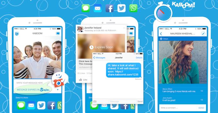 Tenha as funcionalidade do Snapchat nas redes sociais e apps com Kaboom (Foto: Divulgação/AppStore)