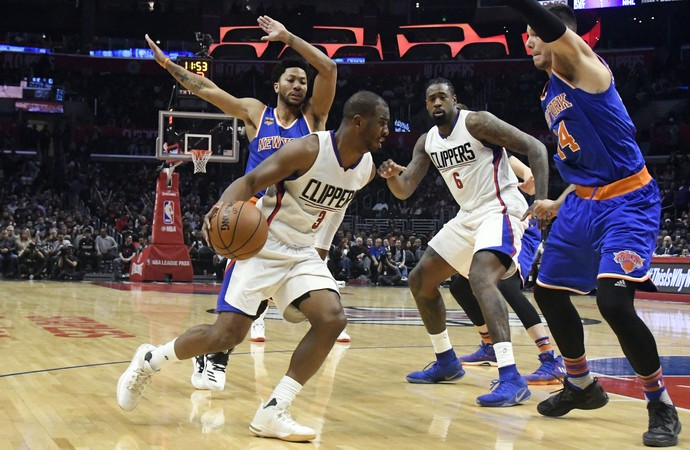 Chris Paul Clippers x Knicks NBA (Foto: Reuters)