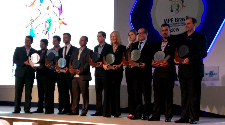Os vencedores do Prêmio MPE Brasil 2015 (Foto: Priscila Zuini)