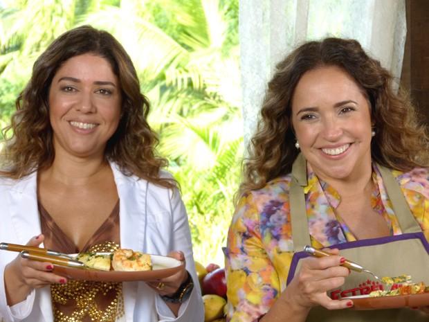 Malu Verçosa e Daniella Mercury (Foto: Estrelas/TV Globo)