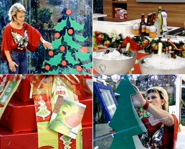 decoracao de arvore de natal simples e barata:Decoração de Natal às pressas: árvore de adesivo pode salvar o