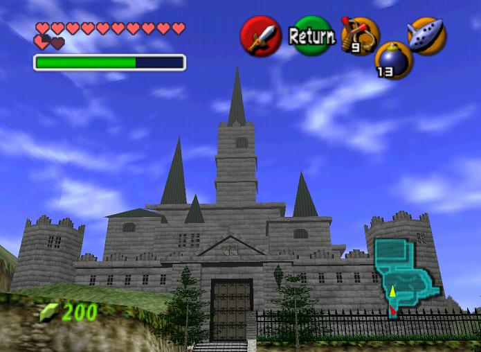 Castelo seria o cenário de tudo em Ocarina of Time (Foto: Reprodução/Thiago Barros)