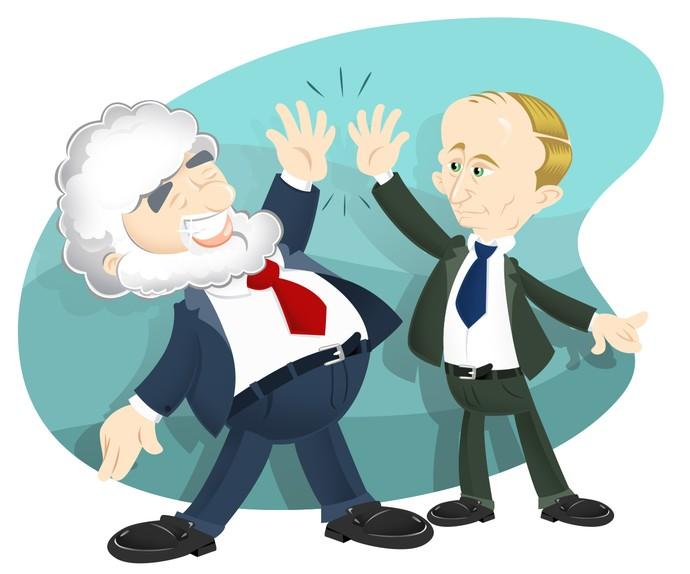 Ilustração - Chuck Blazer e Vladmir Putin (Foto: Michel Lima)
