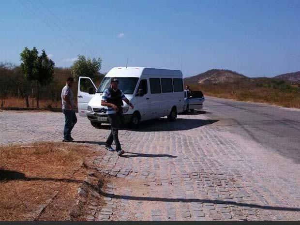 O condutor da Van foi preso (Foto: Divulgação/Polícia Federal do RN)